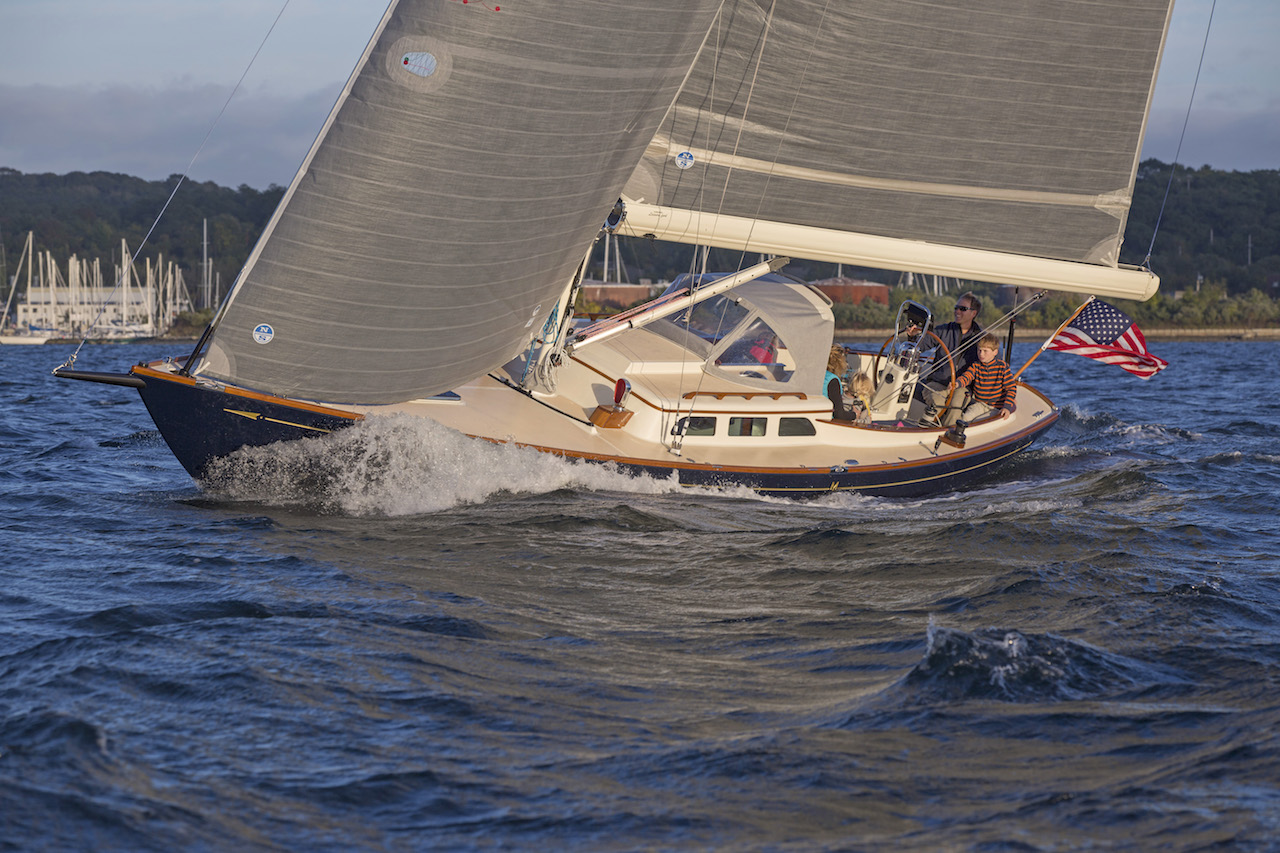 Morris 36X sailing in Narragansett Bay, RI