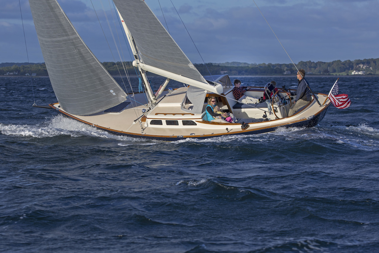 Morris 36X sailing in Narragansett Bay, RI